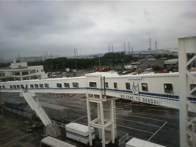 仙台フェリー港到着